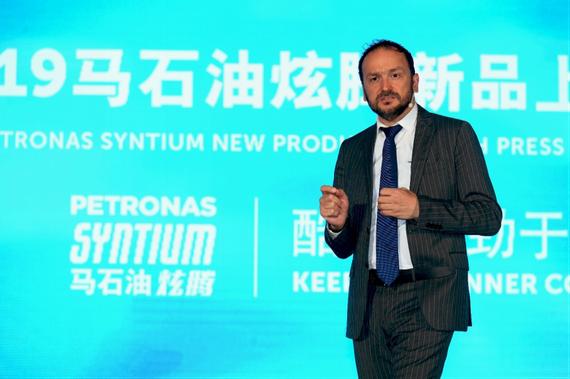 (马石油润滑油国际首席商务官Giuseppe Pedretti致辞)