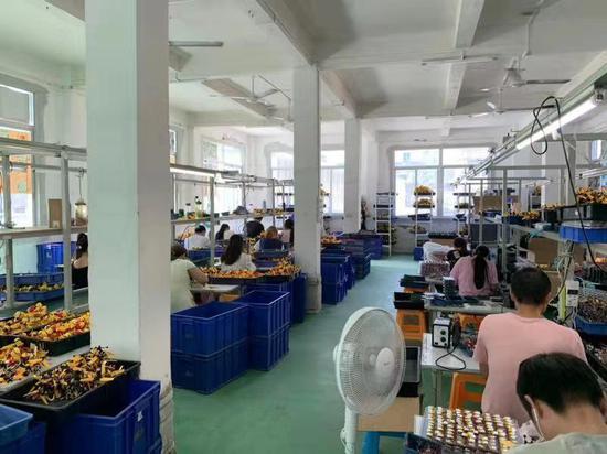 冒牌玩具生产工厂。本文图片均为 静安警方供图