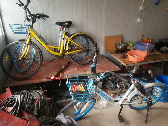 11辆被盗共享单车现身工地 工人却说这是公司给的专车