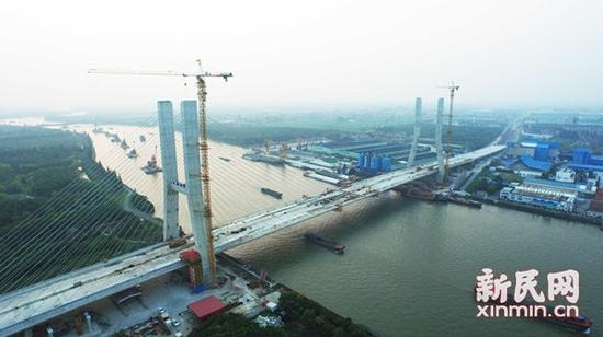 松江辰塔大桥年底建成通车