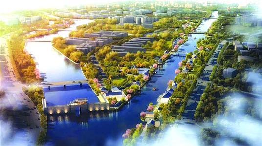 青浦环城水系公园内圈即将贯通