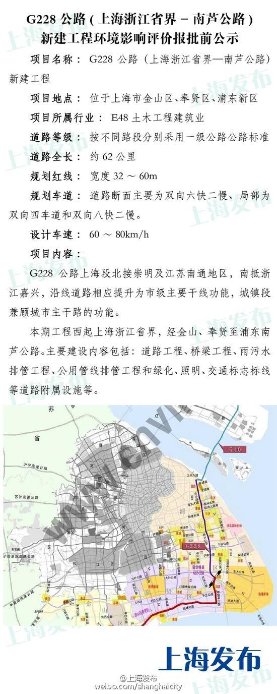 G228公路环评报批前公示 沿着海岸直通浙江