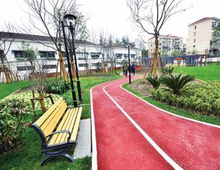 新市北路6000余平方米绿地建成开放