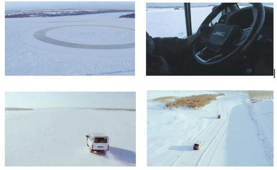 江铃品牌柴油轻客在一片冰雪世界闯出一片新天地