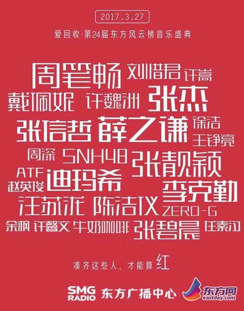 图片说明:东方风云榜音乐盛典海报。