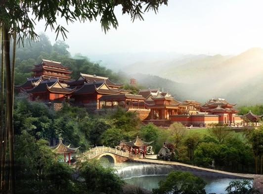 茶山竹海国家级森林公园风景区是中国国家国际象棋队集训基地与武侠巨图片