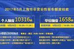 5月沪牌拍卖20日举行 个人额度10316辆 警示价87900元
