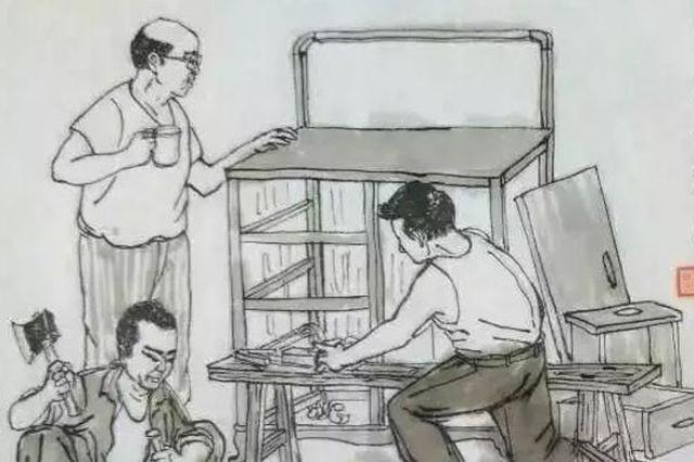 七旬老翁凭借记忆 画出上海弄堂生活