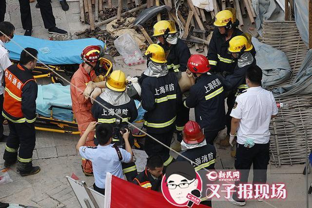 上海曹安公路房屋倒塌现场救出3人 其中2人不幸身亡