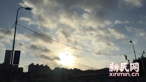 上海大风蓝色预警高挂晨风送爽 今日最高温35度