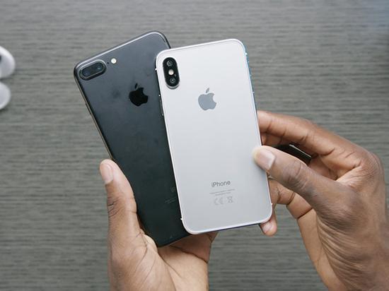 与iPhone 7 Plus相比,iPhone 8的虚拟非功能型号