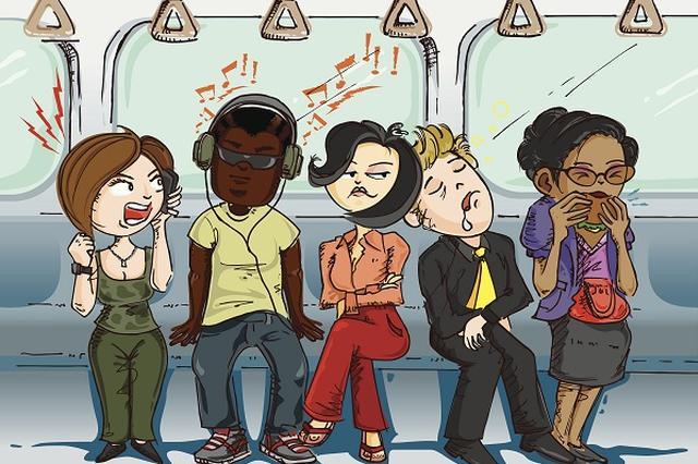 市民呼吁公交车禁食 车厢变食堂窗帘被当抹布