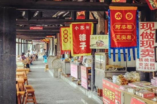 枫泾长廊小吃一条街