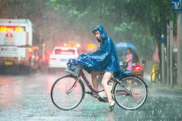 申城今日潮湿闷热降雨减弱 隔天雨水又重来