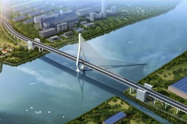 昆阳路越江大桥预计2020年通车 主墩钢管桩全部完成