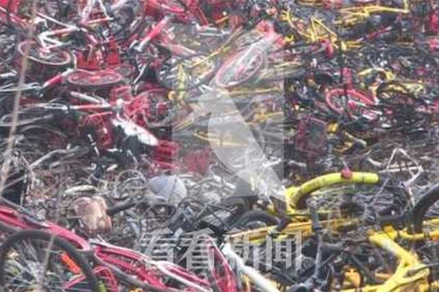 龙吴路一事故车停车场火灾 数百辆非机动车被毁