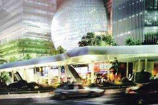 徐家汇空中连廊一期工程钢结构开吊 或明年投入使用