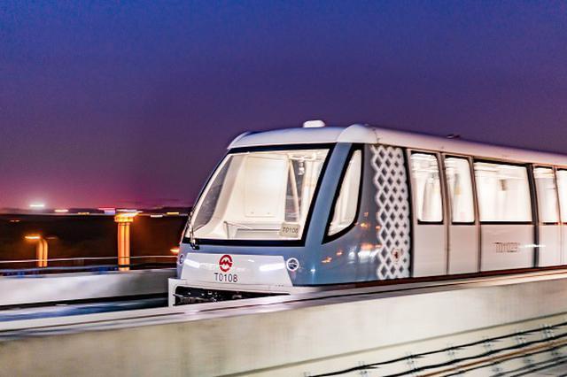 上海首条胶轮路轨全自动无人驾驶线路浦江线本周六试运营
