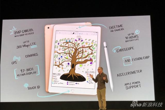 苹果发布新款9.7英寸学生款iPad:售299美元