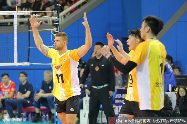 上海男排1比3不敌北京男排 总比分仍然3比2领先