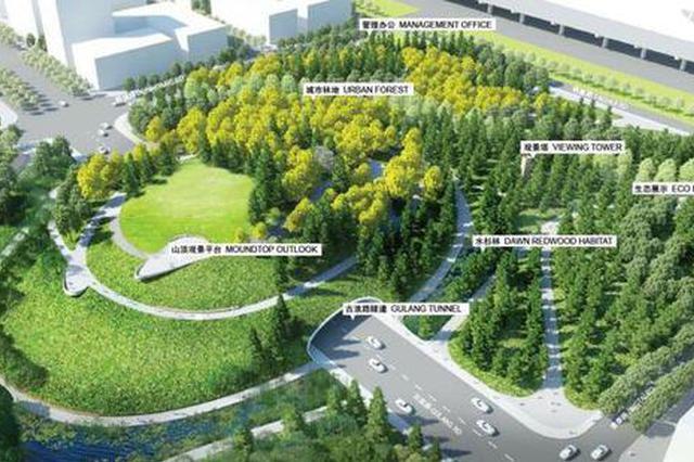 上海市中心百万平米最大开放绿地开工 将有市区第二高山