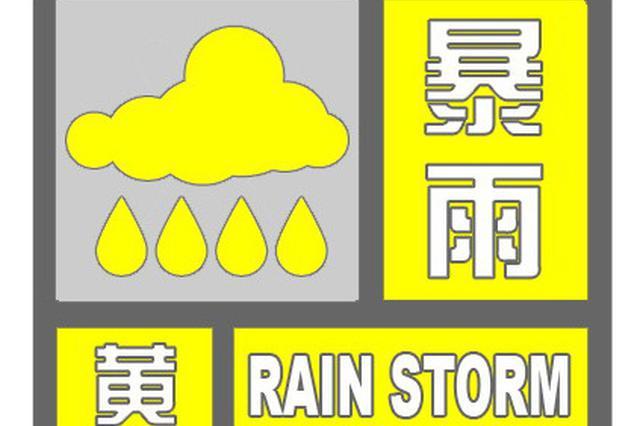上海发布雷电暴雨双黄预警 累积降水量将超50毫米