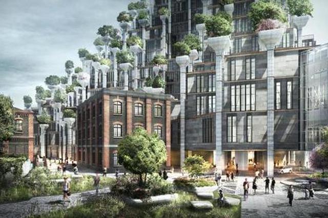 蘇州河畔年底將現城市綠洲新地標 一座建筑上種千棵樹