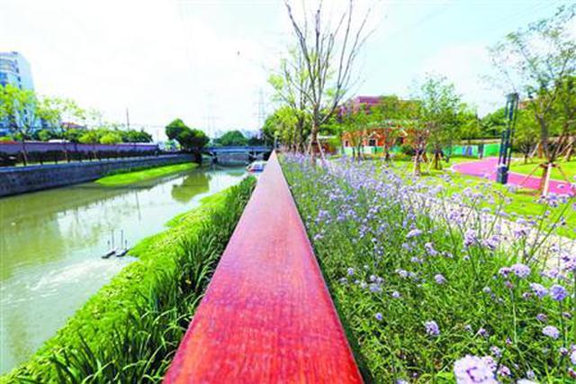 生态滨水公园彭越浦滨河绿地开放 面积3.1万平方米