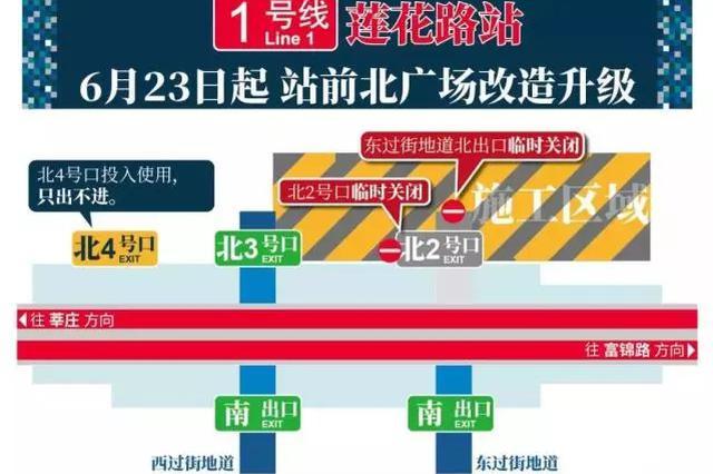 上海地铁1号线莲花路站外改 造通行攻略一览
