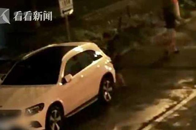 男子酒后失控与女友吵架 有头猛撞奔驰车被刑拘