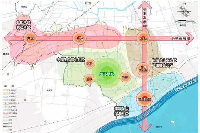金山2035总体规划草案公示 将成辐射长三角重要门户