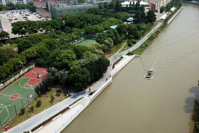 嘉定环城河步道内圈贯通 可沿河赏申城千年清明上河图