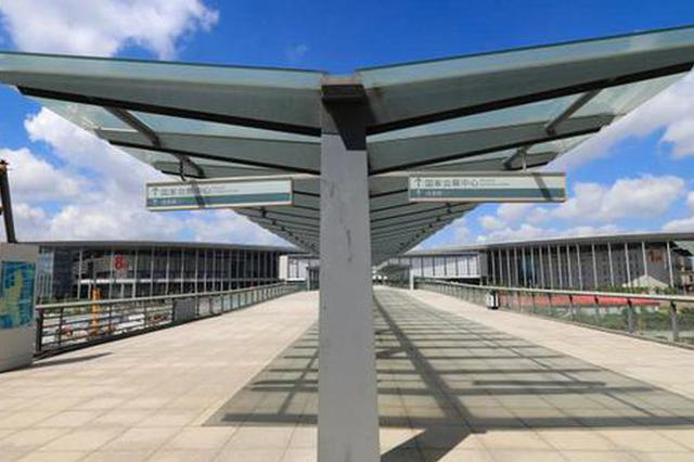 国家会展中心二层步廊新进展 步行至虹桥商务区20分钟