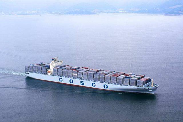 超大型集装箱船中远海运人马座交付 甲板近4个足球场