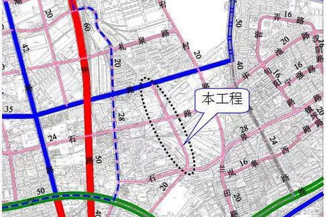 普陀将建一条道路 打通东西向交通分流易拥堵路段
