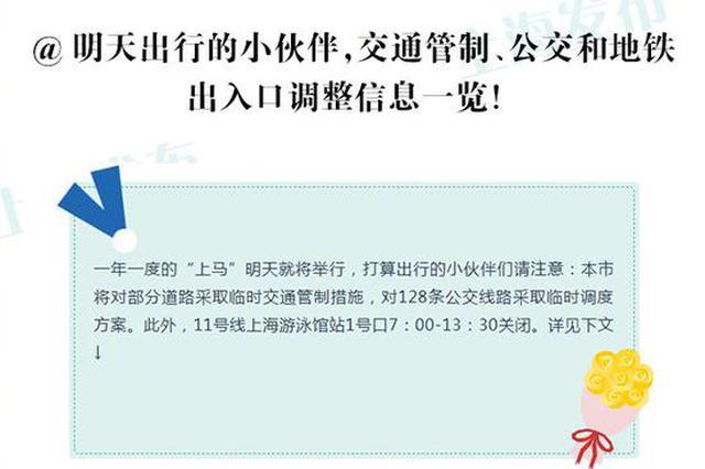 上海马拉松开跑 部分道路实施交通管制
