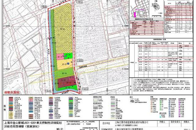金山新城等地规划调整方案出炉:征地约8万平米