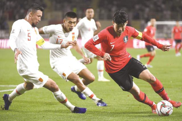 亚洲杯国足0:2不敌韩国 轮换四名球员力不从心