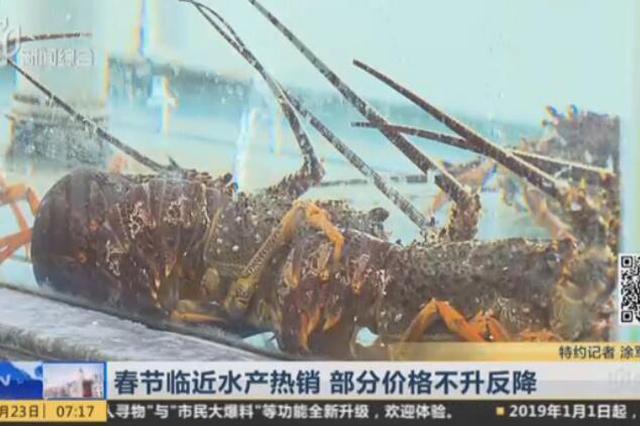 视频:春节邻近沪上水产热销 部分价格不升反降