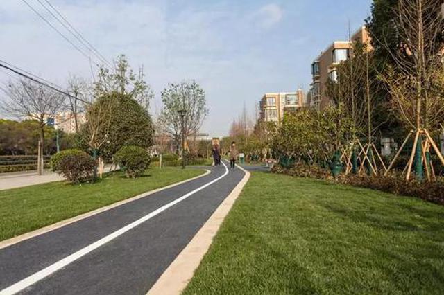 闵行添中春路东侧绿道带 设三段主题景观营造不同体验