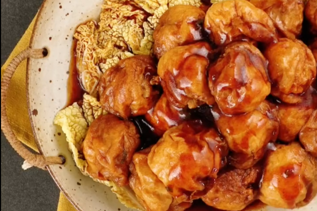 上海传统菜之油面筋塞肉 快学起来