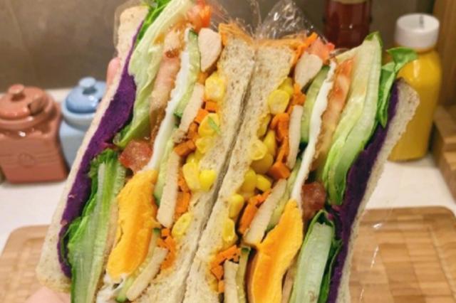 减脂快手三明治公式 适合每天时间很紧的上班族