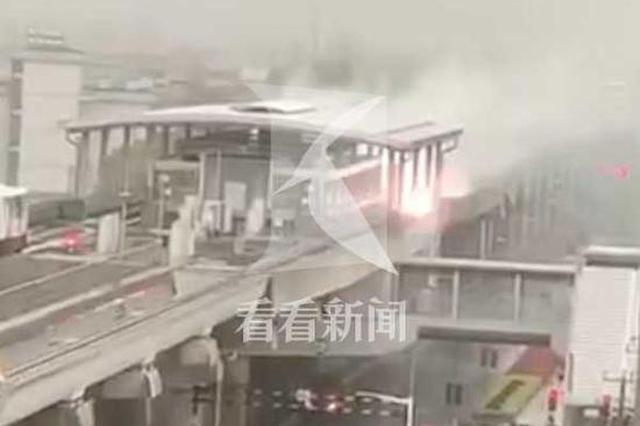 上海浦江线站外区间设备遭雷击 事发时无列车通行