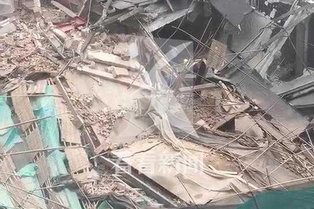 昭化路一改造建筑发生坍塌 有人被埋消防已抵达
