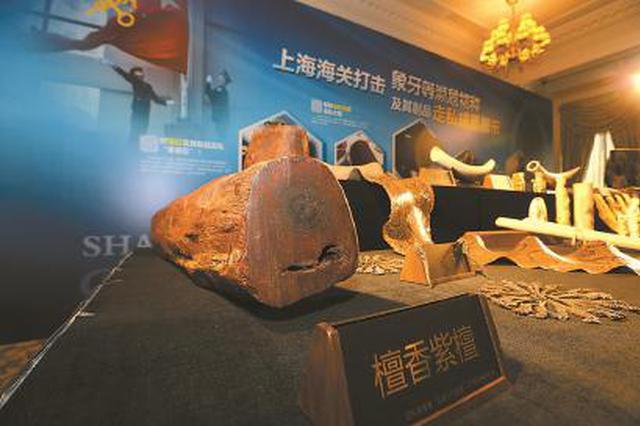 上海海关查获私运分子 小叶紫檀被伪报成便宜血檀
