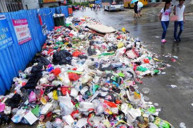 宝山一小区垃圾堆一人多高无人清理 蚊蝇滋长野猫乱窜