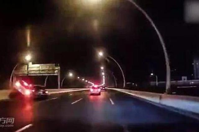 上海中环坠车事故肇事司机酒驾 已被依法刑事拘留