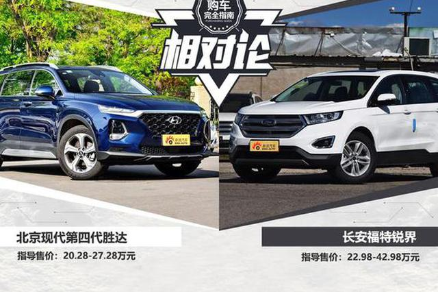 相对论 北京现代4代胜达vs长安福特锐界