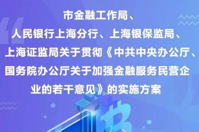 上海发布十九条加强金融服务民企 支持民企科创板上市