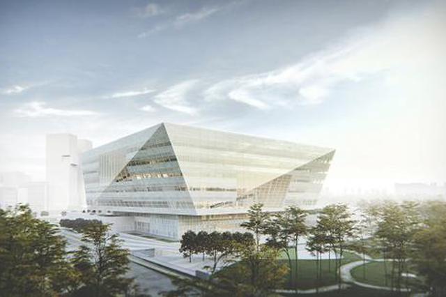 上海图书馆东馆初见雏形 9月主体结构封顶